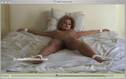 Black pantyhose ripped tied legs behind head anal fucking - 1 part 7